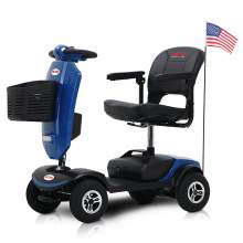 Compact Travel Mobility Scooter for Adults with Windshield