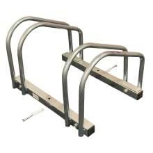 2 Bicycle Floor Parking Adjustable Storage Stand Bike Rack
