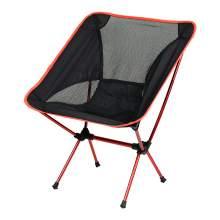 Outdoor Portable Ultralight  Folding Camping Moon Chair Orange