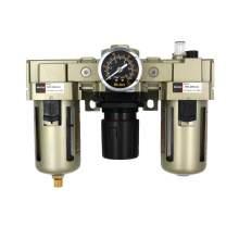"Pneumatic Filter Regulator Lubricator 1/2"" NPT 40 Micron 22-123 psi"