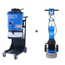 10'' Concrete Edge Grinder and 1 Motor Concrete Dust Extractor Combo
