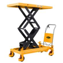 "Manual Double Scissor Lift Table1760lbs 59"" Lifting Height With Safety"