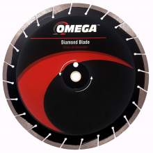 Omega Asphalt Saw Blade 10mm Tall Segments