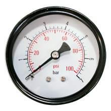 """2-1/2"""" 0-100PSI Pressure Gauge 1/4""""NPT Back Mount"""