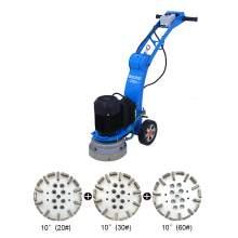 10'' Concrete floor edge grinder with 3PCS 10'' diamond cup
