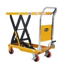 "Manual Single Scissor Lift Table 1100lbs 35.4"" Lifting Height"