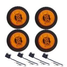 2'' Side Marker Lights Led Round For Trailers Truck