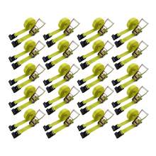 """20 pcs Ratchet Tie Down Strap With Flat Hook 2"""" × 27' Wll 3333 lbs"""
