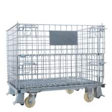 "Foldable Metal Wire Container 40""L x 32""W x 34""H 2800 Lb, 4 Casters"
