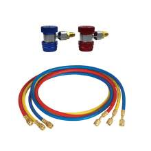 A/C Service Kit R134a Quick Coupler with 72'' SAE Charging Hose