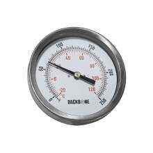 Bimetal Thermometer 3 In. Dial 0 to 250 °F Back Connection