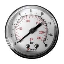 """2"""" Dry Pressure Gauge 230 PSI Back  Entry 1/4"""" NPT"""
