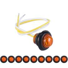 Amber Led Side Marker Lights Bullet For Boat Trailers
