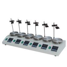 6L Laboratory Magnetic Stirrer Hot plate Digital Display 6-Position