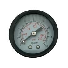 P1 1.5 Inch Pneumatic Gauge 1/8 Npt 0-220Psi/0-16Bar Back Entry