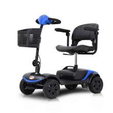 Lightweight Mobility Scooter With Four Wheels for Travel Users