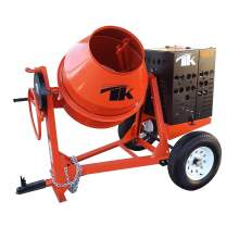 TK Equipment 12 Cu. Ft. Steel Drum Concrete Mixer w/ GX390 Honda Engine CM12-GH13