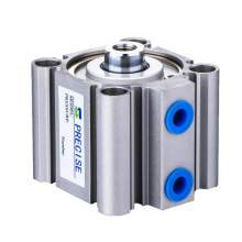"""3/8"""" NPT 80mm Bore x 50mm Stroke Compact Air Cylinder Magnetic"""