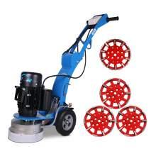 10'' Disc concrete floor grinder & 4x grinding heads