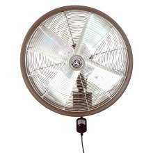 """24"""" Shrouded Outdoor Wall Mount Oscillating Fan - Motor Control/Brown"""