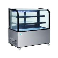 48 in. Curved Glass Stainless Steel Refrigerated Bakery Display Case
