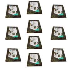 10 pcs Poly Tarp Cover Waterproof 10' x 12' Camouflage 5 mil