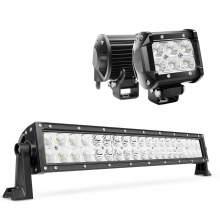 1pcs Super Bright 22Inch 120W LED Light Bar and 2pcs 4inch 18W LED Pods bundle