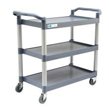 "MAXARA Grey Utility / Bus Cart with Three Shelves - 42"" x 20"""