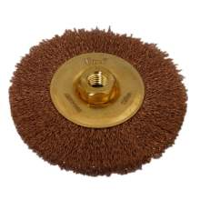 "5"" Non-Sparking Crimped Wire Wheel Brush Arbor Hole Mounting"