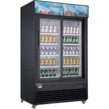 47.6 cu. ft. Commercial Glass Sliding 2-Door Merchandiser Refrigerator in Black