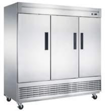 64.8 cu. ft. 3-Door Commercial Refrigerator in Stainless Steel