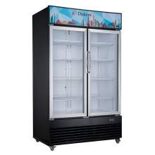 34.3 cu. ft. Commercial Glass Swing 2-Door Merchandiser Refrigerator