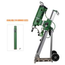 Concrete Core Drill Motor 3300W & Drill Rig With  2'' Dia Core Bit