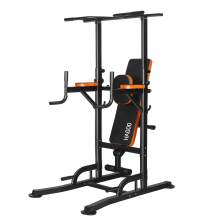 HAGOO 400LBS Power Tower Pull Up Station  Dumbbell Bench 6 Adjustable