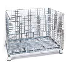 """Qty200 Folding Wire Container 40x48x 30"""" 4000Lbs Cap. Wire 2x2"""" Silver"""