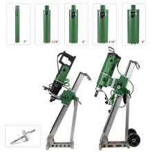 Concrete Core Drill 2x motors 2x Rigs with 5x Bore Bits & Anchor Set
