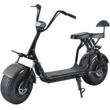 Electric Fat Tire Scooter For Adults With Two Wheels Two Seats 60V20Ah 2000W Black