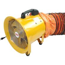 """12"""" Portable Industrial Ventilation Fan With 16' Flexible Duct"""