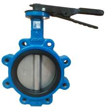"""Lug Style Butterfly Valve Ductile Iron 6"""" Pipe Size Class 150"""