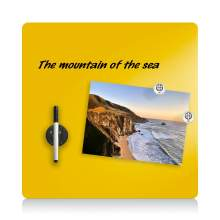 """Magnetic Glass Dry Erase Board - 16""""x16"""" - Yellow"""