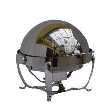 6.5QT Stainless Steel  Roll Top Round Deluxe Chafer