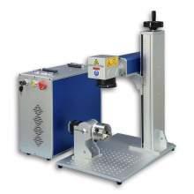 JPT 50W Fiber Laser Marking Machine 80mm Rotary Fiber Laser Engraver
