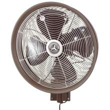 """24"""" Shrouded Outdoor Wall Mount Oscillating Fan - Cord Control/Brown"""