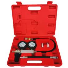 Dual Gauges Auto Cylinder Leak Tester Compression Leakage Detector Kit
