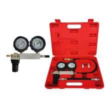 Dual Gauges Auto Cylinder Leak Tester Compression Leakage Detector Kit