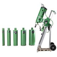 Concrete Core Drill Motor 3300W & Drill Rig With 5x Wet Drill Bits