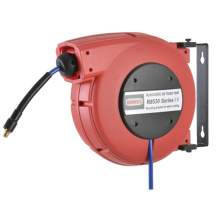 """Automatic Retractable Air Hose Reel with 33ft 0.3"""" x 0.5"""" PU Hose"""