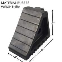 Rubber Wheel Chock & Tire Chock 8''Lx4''Wx6''H