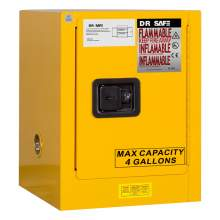 "Flammable Cabinet 4 Gallon 22"" x 17"" x 17"" Manual Door"