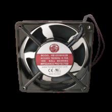 4.7'' 220vac square Axial Fan, 1.5'' Depth, 50/60Hz, 95cfm, lead wires